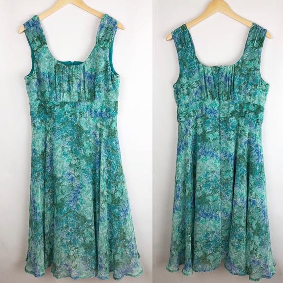 9ba7aa17b4469 Northstyle Dresses | Dress Size 16 Womens Floral Blue Green | Poshmark